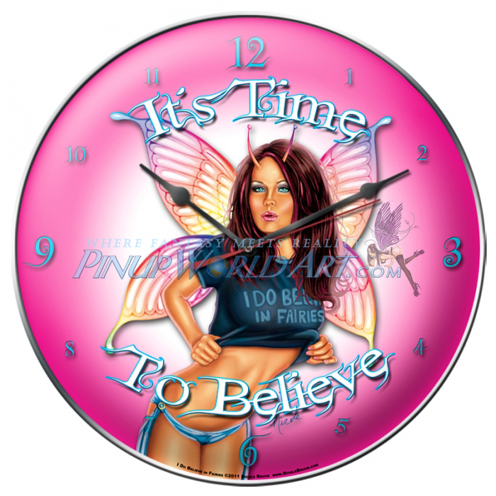 I Do Believe in Faires Clock